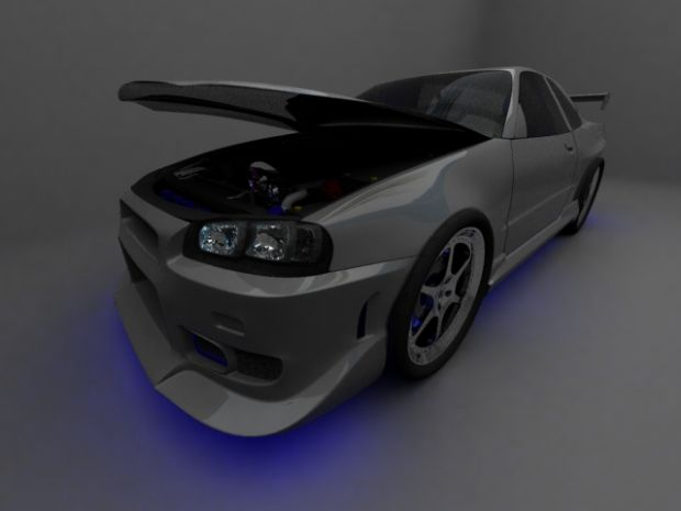 Nissan Skyline(neon Shot; Updated) Image   Silenced Mod .