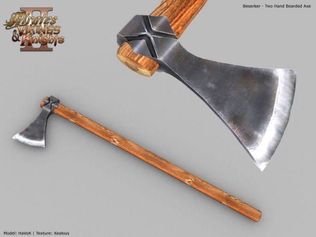 Berserker's 2 Handed Bearded Axe