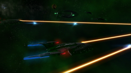 A Calypso Class in combat