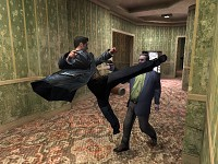 Max payne kicks enemy's ass (head)