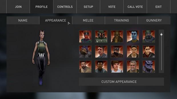 GUI Concept: Appearance.