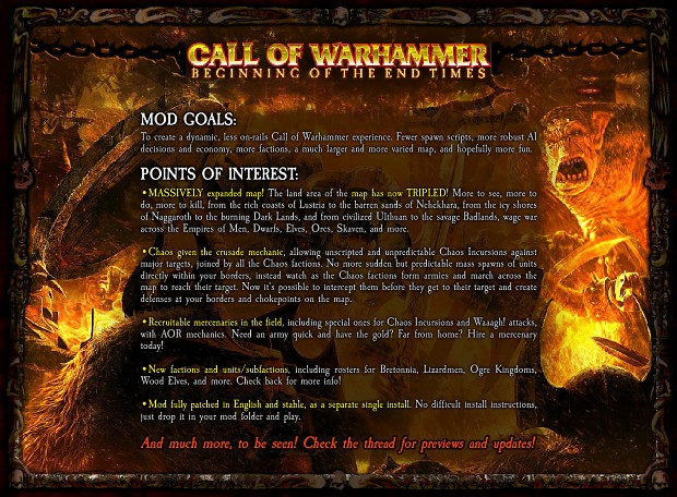 Call of Warhammer, un mod pour Medieval Total War 2 (Kingdom) Backy.1