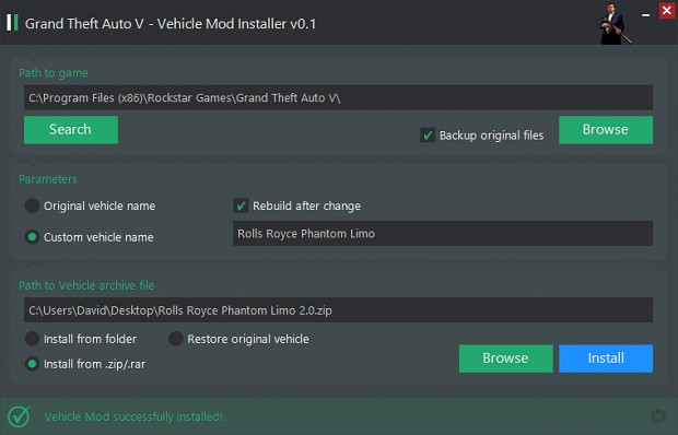 gta 4 image - Grand Theft Auto V Vehicle Mod Installer for
