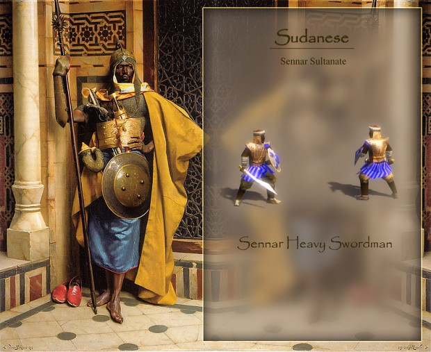 Sudanese Sennar Heavy Swordman
