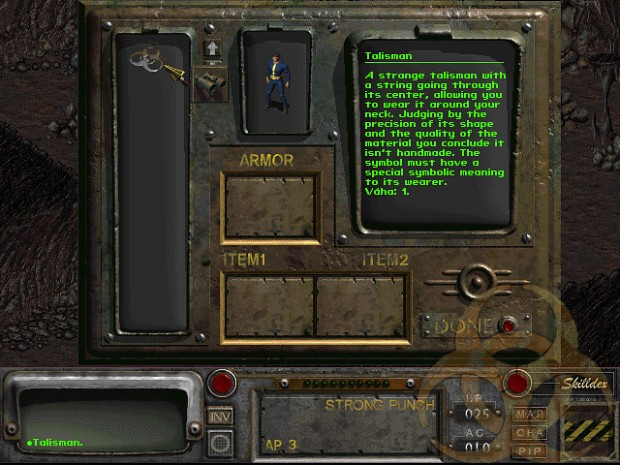 Talisman that is the only clue to the players past