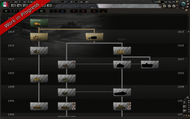 [WIP] Preview of the Italian Tank Tech Tree