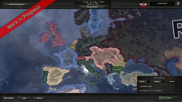 WIP] Preview World War I Map image - Hearts of Iron IV: The