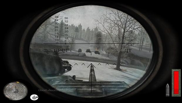 Tank gunner's reticles