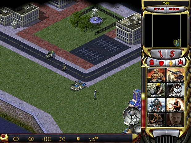 Mammoth, Jackal, Terrorist and Yuri Prime (RA2 New Age for War)