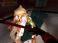 A zombie being bashed