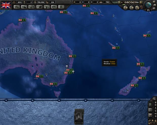 UK Order of Battle (Oceania) 1936