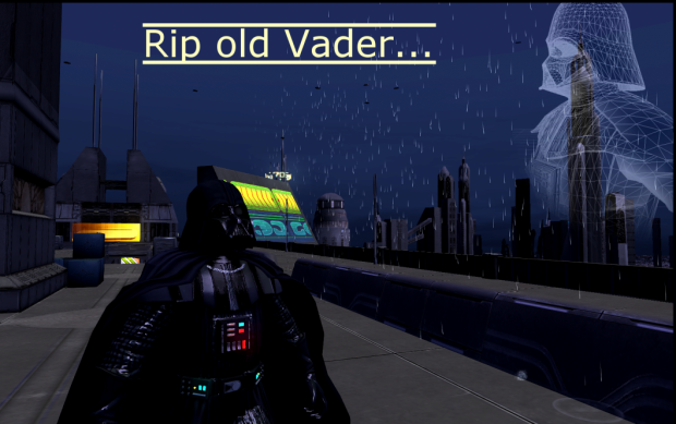 Coruscant - With Rain + R.I.P. Old Vader