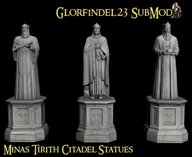 Minas Tirith Statues Updated image An Edain SubMod for