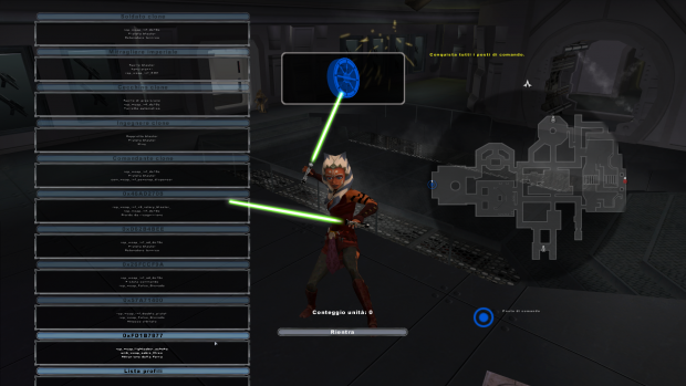 Ashoka with double lightsabers and blades width and lenght modified