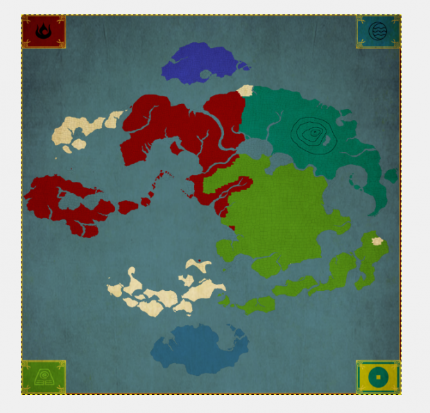 Planned ingame map image - Avatar the Last Airbender TripleA ...