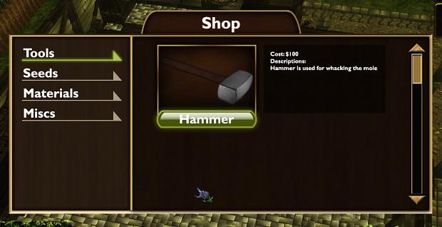 Shop Menu UI Design (Improved)