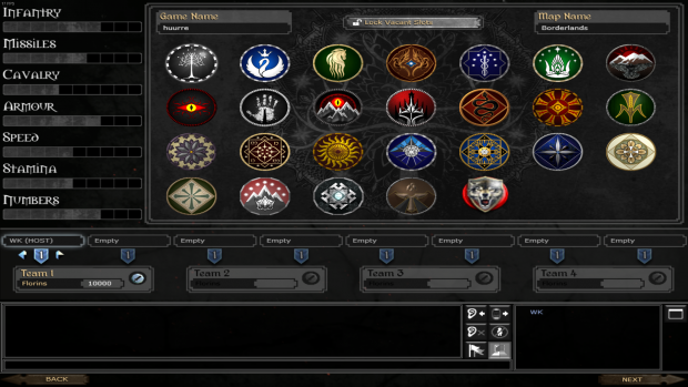 New faction Selection Screen