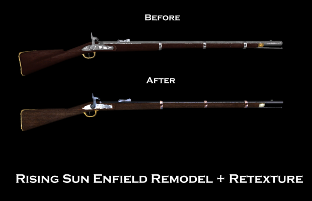Rising Sun 1853 Enfield Remodel and Retexture