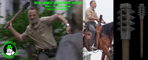 Rick Grimes' Season 9 Wood Mace