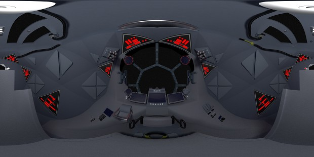 Targ's TIE Fighter Cockpit almost complete (360° Render)