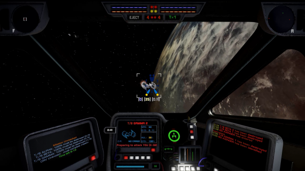 Classic X-Wing style targeting computer preview