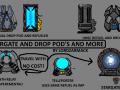 Stargates, Drop pods and more