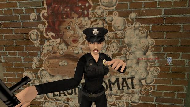 Slow-mo police lady