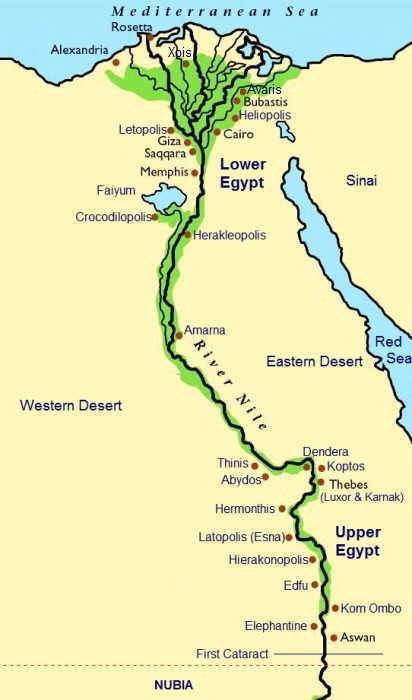 MapofEgypt13thDynasty