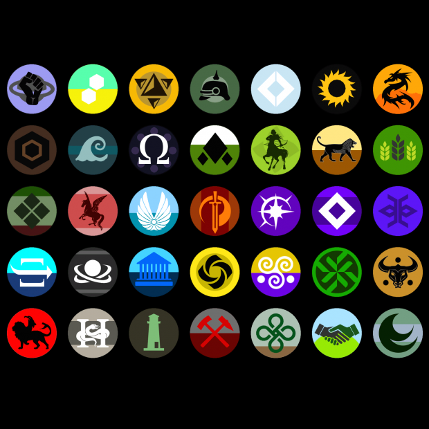 Flags for some planets within the Terran Empire (names in comments)