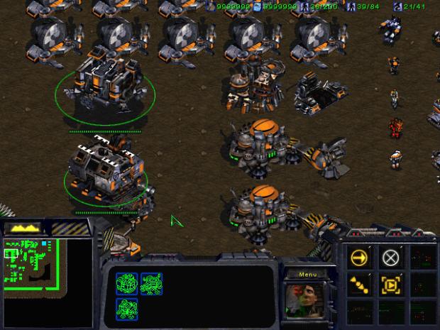 Beta 12.24.97D Terran Building Selection