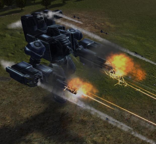 UEF Combat ACU Action Scenes