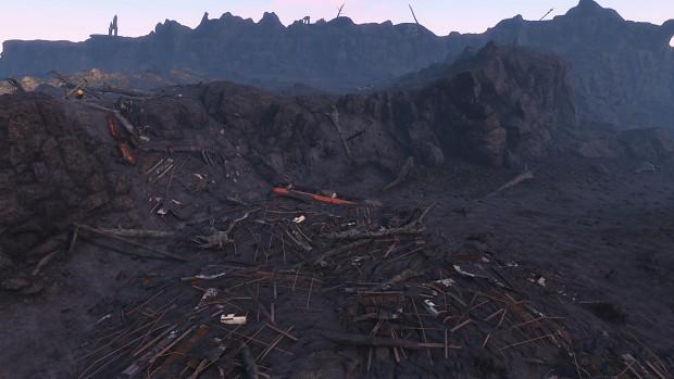River Of Debris In Ashen Badlands
