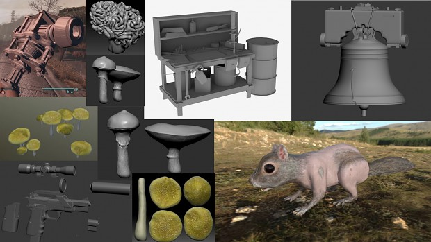 3D Models Collage