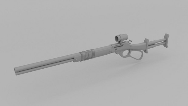 Level Action Sharps Pipe Rifle Model