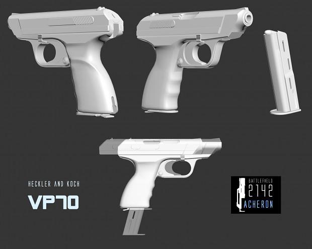 HK VP70 is fully modelled