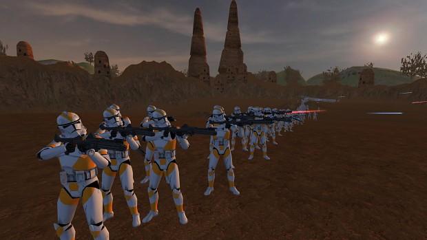 Testing 800 Clones of 212th versus 200 droids custom battle