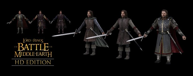 Aragorn - old versus HD