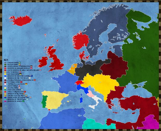 Map of Europe in 2017 (Stormaktstiden Universe)