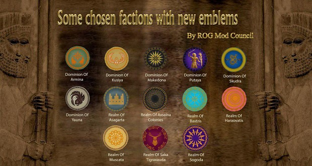 The second banner of chosen factions with new emblems