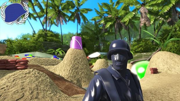 Beach Party - Blue selfie