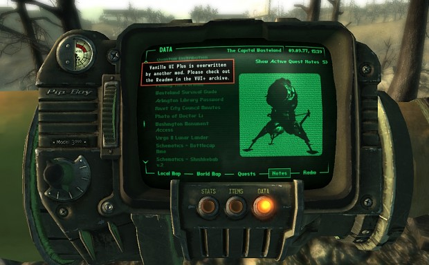 Diagnostics image - Vanilla UI Plus mod for Fallout: New ... on