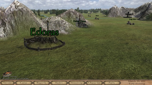 Edoras, Isengard (Towns) and Helms Deep (Castle)