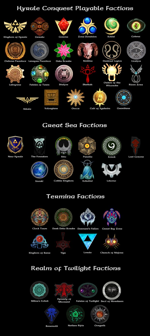 Hyrule Conquest Faction Icons