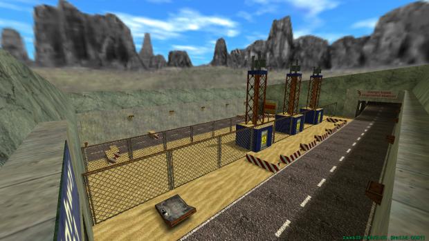 Sampi base onground station - incoming road