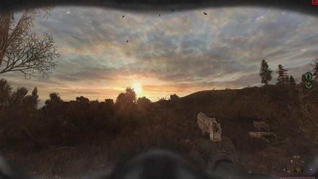 sunset in cordon