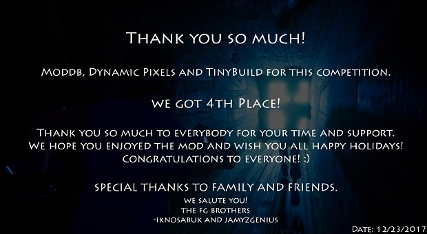 We got 4th Place! :) - Thank you so much to everybody!