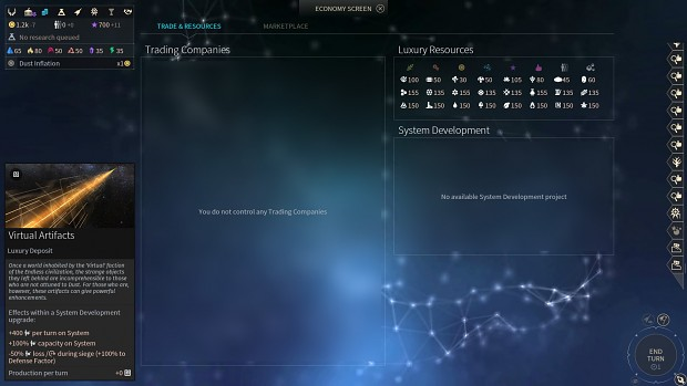 endless space 2 how to make infinite trait points
