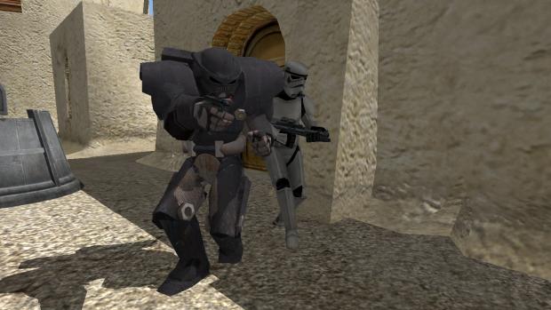 Dark Trooper and Stormtrooper