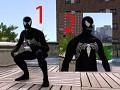 Black Spider-man and Venomized Spidey
