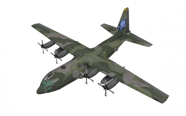 South Korean C-130 from right side view